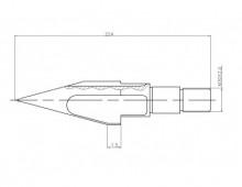 Торпеда 65мм в сборе с клапаном для шнека ТПА