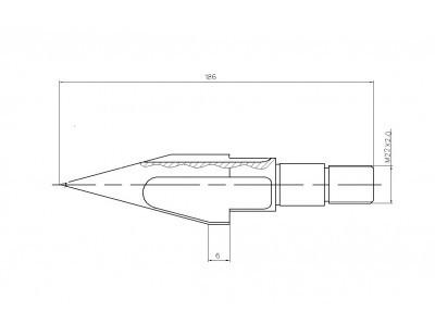 Торпеда 50мм в сборе с клапаном для шнека ТПА