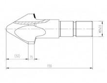 Торпеда 52мм в сборе с клапаном для шнека ТПА