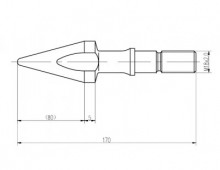 Торпеда 45мм в сборе с клапаном для шнека ТПА
